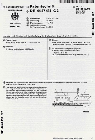 Klaus Peter Jörns Patente